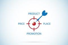 mezcla del márketing 4P, márketing y concepto del negocio Imagenes de archivo