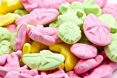Mezcla dulce del caramelo foto de archivo