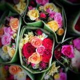 Mezcla elegante de la mezcla de Rose de bastidor horizontal del diseño de las flores La hortensia verde, salvaje subió, camelia,  Fotos de archivo libres de regalías