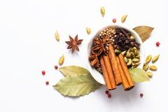 Mezcla herbaria exótica del concepto de la comida del st orgánico del canela de las especias Fotos de archivo libres de regalías