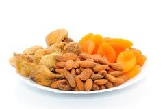Mezcla Nuts y secada de las frutas Foto de archivo libre de regalías