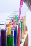 Mezcla química Imágenes de archivo libres de regalías