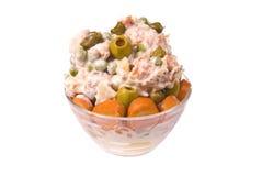 Mezcla rusa de la ensalada Imagen de archivo