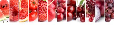 Mezclado de las frutas y verduras del color fotos de archivo libres de regalías