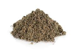 Mezclado de suelo de la arena y de la ceniza de la arroz-cáscara para la plantación Fotografía de archivo