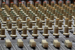 Mezclador audio Fotografía de archivo
