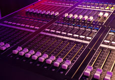 Mezclador audio Imagen de archivo libre de regalías