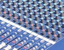Mezclador audio. Imagen de archivo libre de regalías
