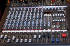 Mezclador audio Fotos de archivo libres de regalías