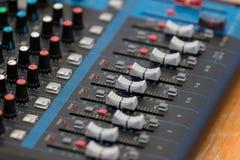 Mezclador audio Foto de archivo