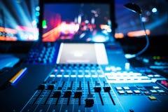 Mezclador audio de sonidos Imagen de archivo libre de regalías