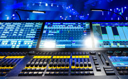 Mezclador audio de sonidos Foto de archivo libre de regalías