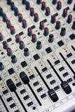 Mezclador audio del canal foto de archivo