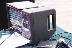 Mezclador audio portable Imágenes de archivo libres de regalías