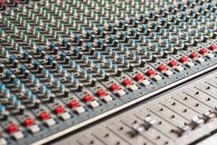 Mezclador audio profesional detallado fotografía de archivo libre de regalías