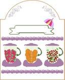 Mezclador con arte fresco de las frutas de las rebanadas Imágenes de archivo libres de regalías