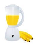 Mezclador con el plátano stock de ilustración