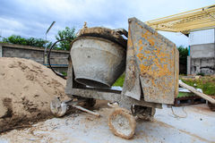 Mezclador concreto Fotografía de archivo libre de regalías
