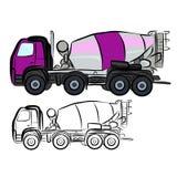 Mezclador concreto del camión Foto de archivo libre de regalías