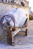 Mezclador concreto viejo Imágenes de archivo libres de regalías