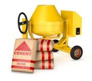 Mezclador de cemento libre illustration