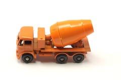 Mezclador de cemento anaranjado del juguete Imagenes de archivo