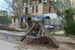 Mezclador de cemento viejo Foto de archivo libre de regalías