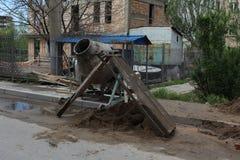 Mezclador de cemento viejo Fotografía de archivo