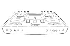 Mezclador de DJ ilustración del vector