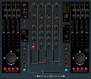 Mezclador de DJ stock de ilustración