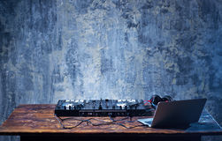 Mezclador de DJ foto de archivo libre de regalías
