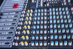 Mezclador de DJ con las porciones de botones y de botones Fotos de archivo