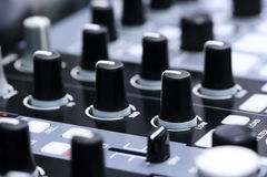 Mezclador de DJ del club nocturno Fotografía de archivo