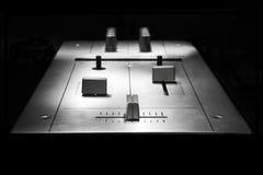 Mezclador de dos canales para DJ Imágenes de archivo libres de regalías