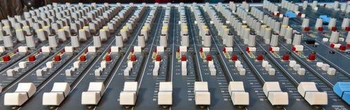 Mezclador de la música Imágenes de archivo libres de regalías