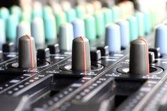 Mezclador de la música Foto de archivo libre de regalías