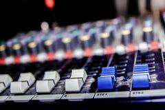 Mezclador de la música con el canal Foto de archivo libre de regalías