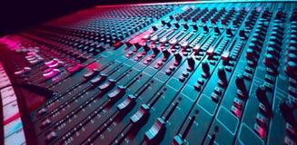Mezclador de la música Fotos de archivo libres de regalías