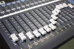 Mezclador de la música de Digitaces Foto de archivo
