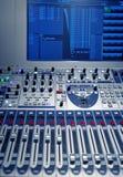 Mezclador de la música del estudio Fotografía de archivo
