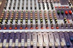 Mezclador de radio de sonidos Imagen de archivo libre de regalías