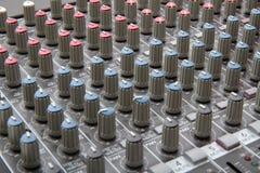 Mezclador de sonidos Fotografía de archivo libre de regalías
