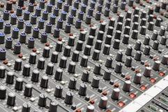 Mezclador de sonidos Foto de archivo libre de regalías