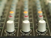 Mezclador de sonidos Imagen de archivo