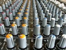 Mezclador de sonidos imagen de archivo libre de regalías