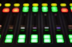 Mezclador de sonidos de Digitaces fotos de archivo