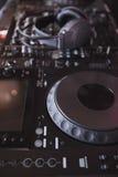 Mezclador de sonidos de la placa giratoria de DJ Imagenes de archivo