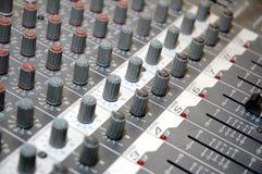 Mezclador de sonidos de tarjeta de control Foto de archivo libre de regalías