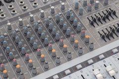 Mezclador de sonidos del tablero Imagen de archivo