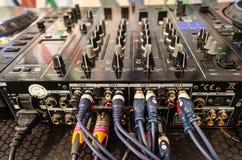 Mezclador de sonidos en el evento vivo Imagen de archivo libre de regalías